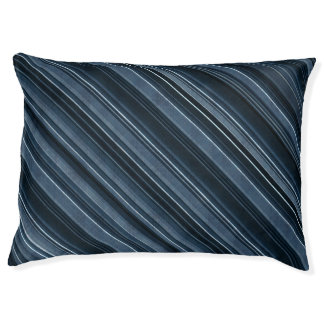 Rustic Blue, Attractive Men's Stripes Pattern Large Dog Bed
