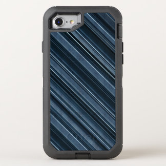 Rustic Blue, Attractive Men's Stripes Pattern OtterBox Defender iPhone 8/7 Case