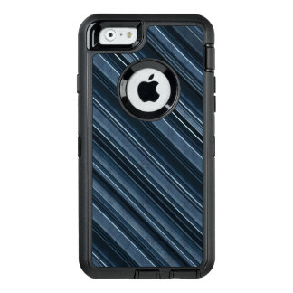 Rustic Blue, Attractive Men's Stripes Pattern OtterBox Defender iPhone Case