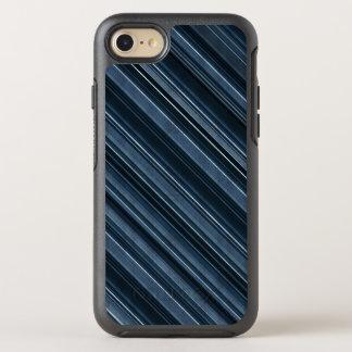 Rustic Blue, Attractive Men's Stripes Pattern OtterBox Symmetry iPhone 7 Case