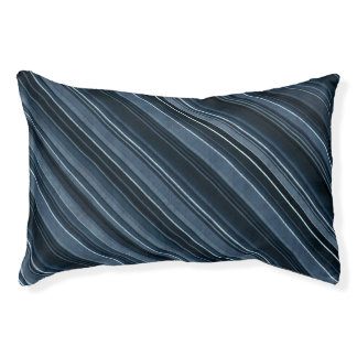Rustic Blue, Attractive Men's Stripes Pattern Small Dog Bed