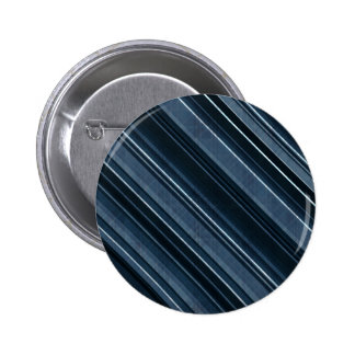 """""""Rustic Blue"""" Stripes Pattern 2 Inch Round Button"""