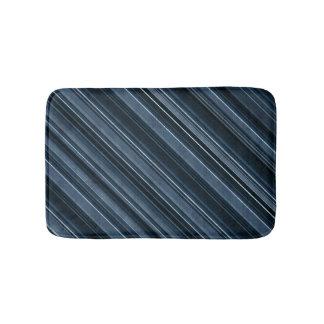 """Rustic Blue"" Stripes Pattern Bathroom Mat"