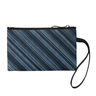 """""""Rustic Blue"""" Stripes Pattern Coin Wallet"""