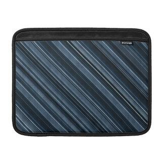 """""""Rustic Blue"""" Stripes Pattern MacBook Air Sleeves"""