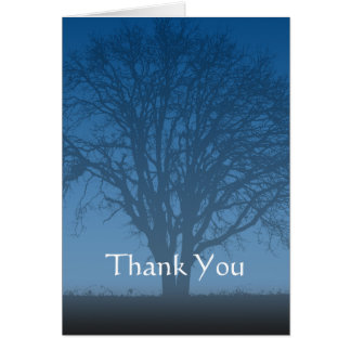 Rustic Blue Tree of Life Thank You Card