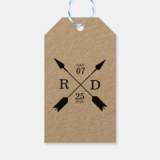 Rustic & Bohemian | Crossed Arrow | Custom Wedding Gift Tags