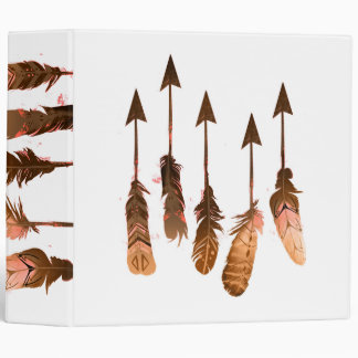 Rustic Bohemian Tribal Feather Arrows Binder