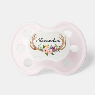 Rustic Boho Custom Name Pacifiers