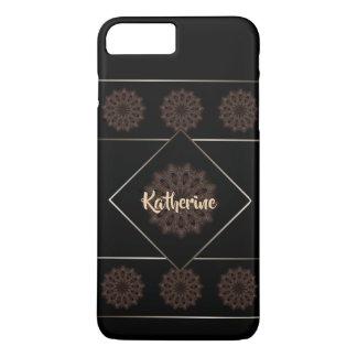Rustic Boho Floral Mandala Monogram iPhone 8 Plus/7 Plus Case