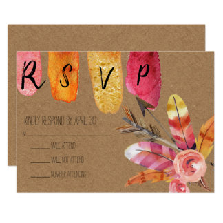 Rustic Boho RSVP Card