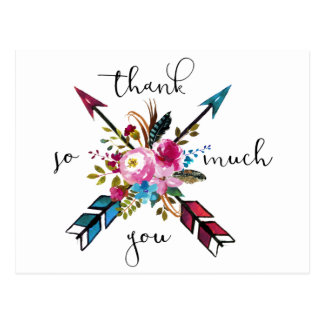 Rustic Boho | Thank You Postcard