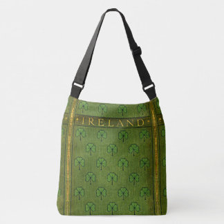Rustic Book Cover Bags Ireland Shamrock
