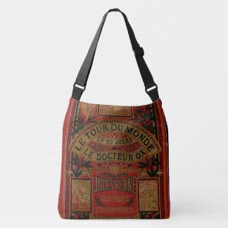 Rustic Book Cover Bags Jules Verne