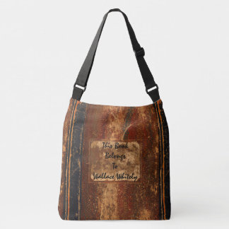 Rustic Book Cover Bags Old Grunge Text Book
