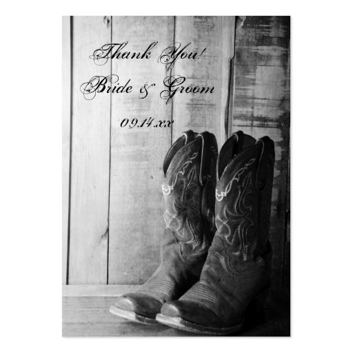 Rustic Boots Country Wedding Favor Tags Business Card Template