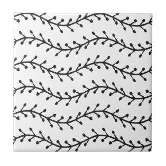 Rustic Branch Pattern Tile