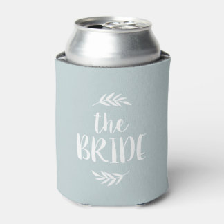 Rustic Branch Personalized Bride Custom Color Can Cooler