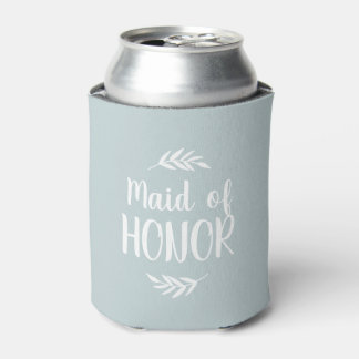 Rustic Branch Personalized Bridesmaid Custom Color Can Cooler