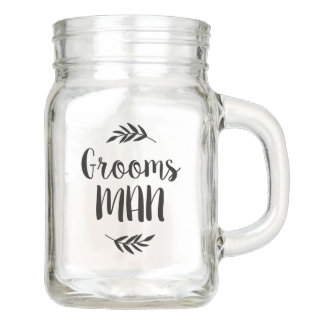 Rustic Branch Personalized Groomsman Gift Mason Jar