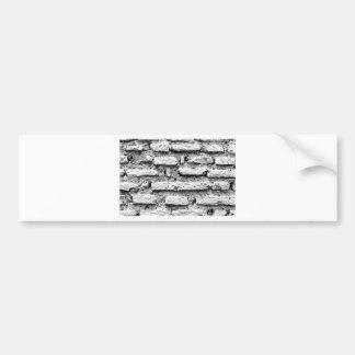 Rustic brickwall bumper sticker