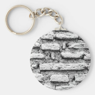 Rustic brickwall keychain