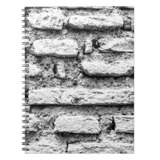 Rustic brickwall notebook