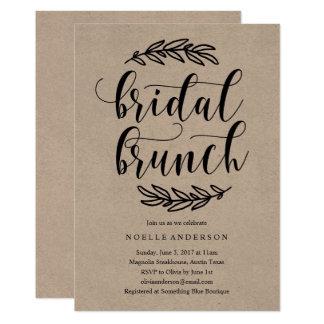Rustic Bridal Shower Brunch Invitation