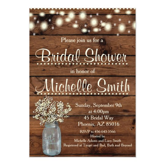 13cec5e96b5 Rustic Bridal Shower Invitation