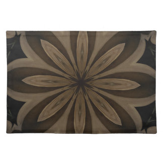 Rustic Brown Floral Kaleidoscope Design Placemat