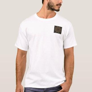 Rustic Brown Floral Kaleidoscope Design T-Shirt