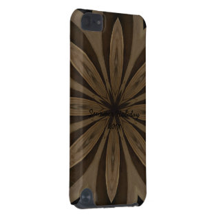 Rustic Brown Flower Kaleidoscope Design iPod Touch 5G Cases