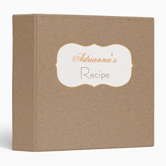 Rustic Brown Kraft Paper Recipe Binders