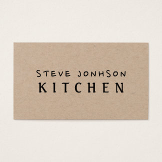 Rustic Brown Minimalist Professional Modern Business Card