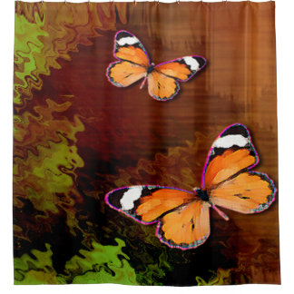 Rustic Brown Orange Butterflies