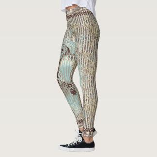 Rustic Brown Stripe Leggings