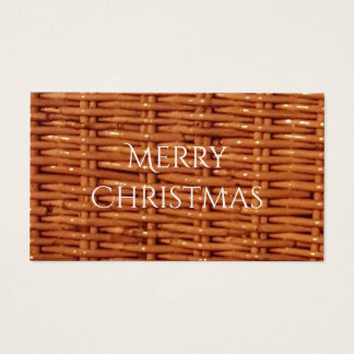 Rustic Brown Wicker Picnic Basket Country Style Business Card