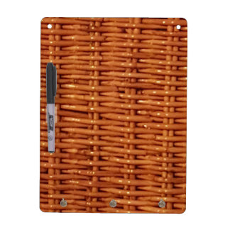 Rustic Brown Wicker Picnic Basket Country Style Dry Erase Board