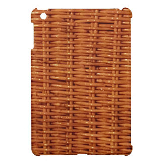 Rustic Brown Wicker Picnic Basket Country Style iPad Mini Cover