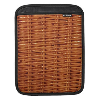 Rustic Brown Wicker Picnic Basket Country Style iPad Sleeve