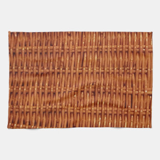 Rustic Brown Wicker Picnic Basket Country Style Kitchen Towel