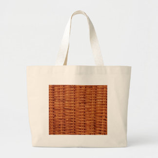 Rustic Brown Wicker Picnic Basket Country Style Large Tote Bag