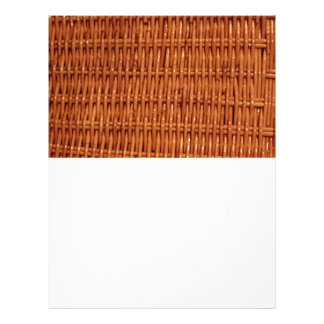 Rustic Brown Wicker Picnic Basket Country Style Letterhead