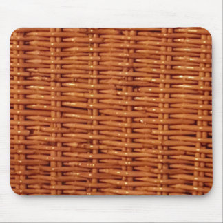 Rustic Brown Wicker Picnic Basket Country Style Mouse Pad