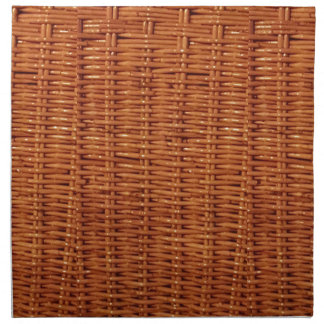 Rustic Brown Wicker Picnic Basket Country Style Napkin