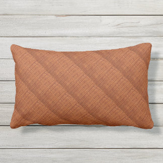 Rustic Brown Wicker Picnic Basket Country Style Outdoor Pillow