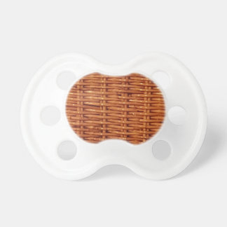 Rustic Brown Wicker Picnic Basket Country Style Pacifier