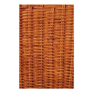 Rustic Brown Wicker Picnic Basket Country Style Stationery