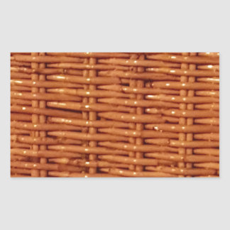 Rustic Brown Wicker Picnic Basket Country Style Sticker