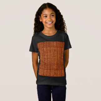 Rustic Brown Wicker Picnic Basket Country Style T-Shirt